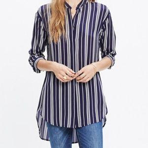 Madewell Silk Tunic Shirt